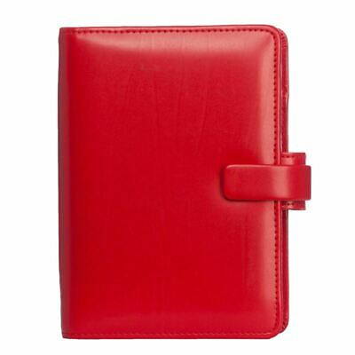£25.60 • Buy Filofax Metropol Personal Organiser Red Leather-Look With Week On Two Diary
