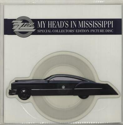 ZZ Top My Head's In Mississippi Shaped Picture Disc Vinyl Record UK W0009P • 32.70£