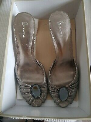 Bourne Bronze Pewter Shoes/ Mules Size 8 Womens  • 8.50£