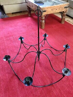 Candle Chandalier Wrought Iron / Cast / Steel • 30£