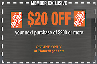 $1.79 • Buy Two 2x Home Depot Coupon $20 OFF $200 ONLINE-USE-ONLY-- LNSTANT DELIVERY-NOW~~~~