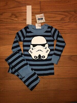 $14.99 • Buy NWT Hanna Andersson ORGANIC Star Wars Storm Trooper Long John Pajamas 80 18-24m
