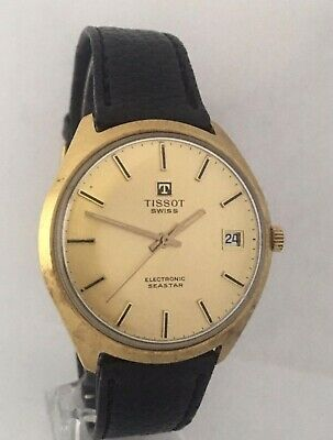 Vintage 1960s Gold-Plated TISSOT Electronic Seastar Watch • 275£