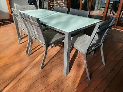 AU250 • Buy 7 PCE OUTDOOR SETTING Incl Dining Table & 6  Chairs Patio Outdoor Furniture