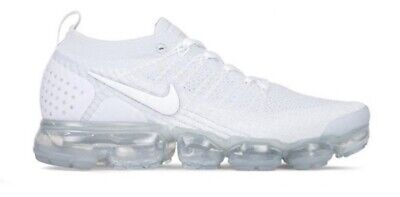 $129 • Buy Nike Air Max Vapormax Flyknit 2 All White Men's Size 9.5