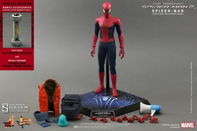 $325 • Buy HOT TOYS AMAZING SPIDER-MAN 2 EXCLUSIVE 12  Figure Sideshow Movie Spiderman