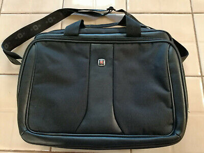 Swiss Tech Laptop Messenger Bag Black Large Nice Used Condition Free Shipping • 15.74£