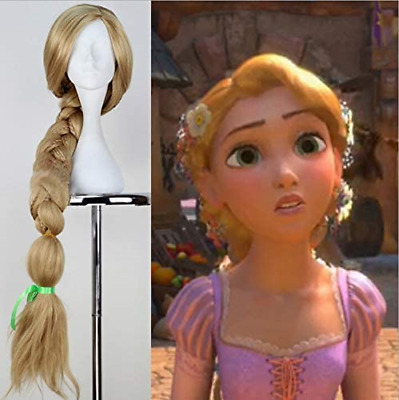 Party Queen Tangled Rapunzel Cosplay Wigs Long Blonde Wig With Braided Hair Heat • 50.64£
