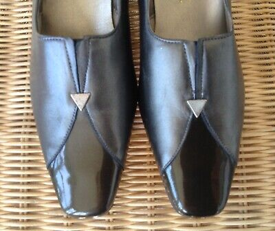 Elmdale  Leather Court Shoes, Pewter, Size 4 EU 37, Original Price £65 • 10£