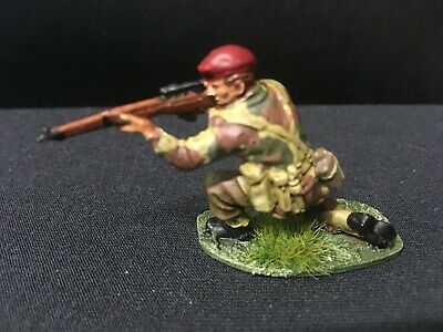 Airfix WWII British Paratrooper Sniper, 1.32nd Scale,  Carefully Painted. • 3£