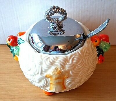 Clarice Cliff Jam/marmalade Preserve Pot From The Celtic Harvest Range,pre-owned • 11.50£