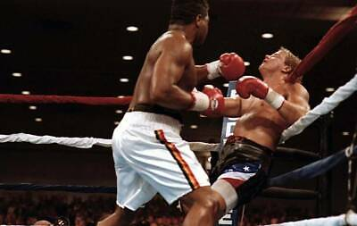 OLD BOXING PHOTO Ray Mercer Knocks Out Tommy Morrison 2 • 4.69£