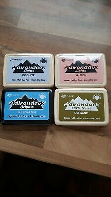 Ranger Adirondack Ink Pads Set Of 4 Raised Felt Dye And Pigment Ink • 15£