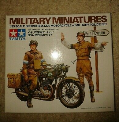 TAMIYA 1/35 Military Mini No.35316 - BRITISH BSA M20 MOTORCYCLE/MILITARY POLICE  • 6£