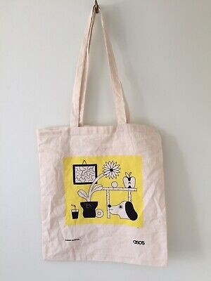 Dominic Kesterton ASOS Snoopy Illustration Graphic Design Tote Bag Canvas Shop • 4.99£