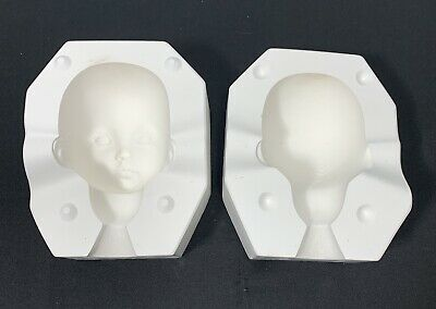 """$ CDN67.65 • Buy Porcelain Doll Molds, Emily Head 19"""" By: Dianna Effner 1991 Expressions"""