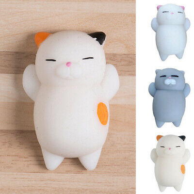 AU4.75 • Buy 3pcs Soft Squishy Cute Cat Squeeze Stress Reliever Decompression Toys Gift*