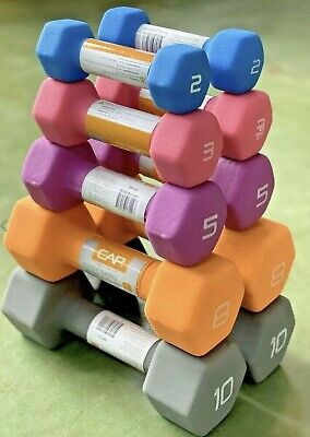 $ CDN53.63 • Buy CAP Pairs Neoprene Coated Dumbbell Weights 15lb 10lb 8lb 5lb 3lb 2lb Fitness US