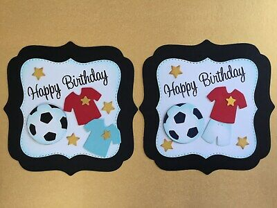 Luxury Birthday Football Card Toppers (W7) • 2.65£