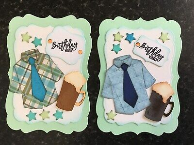Luxury Shirt & Beer Birthday Card Toppers (W11) • 2.65£