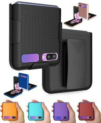 AU28.42 • Buy Hard Protector Case Cover + Belt Clip Holster For Samsung Galaxy Z Flip 5G Phone