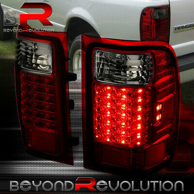 $106.99 • Buy For 01-11 Ford Ranger LED Tail Lights Lamp Housing Smoke Red Lens Pairs Assembly