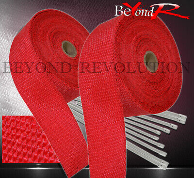 $ CDN52.18 • Buy 360  30Ft Heat Wrap Cover Insulation Reduction Down Header Test Pipe Kit Set Red