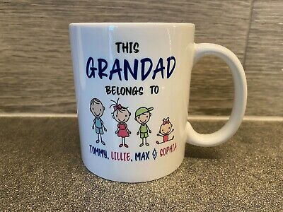 This Daddy Grandad Belongs To Mug Personalised Grandparents Mummy Birthday Gift • 8.95£