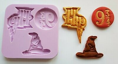 Harry Potter Inspired 001 Silicone Mould For Cake Toppers Chocolate, Clay Etc • 9.99£