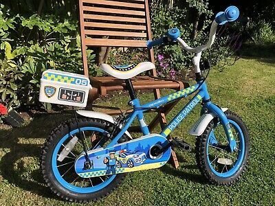 Halfords Childs Apollo Police Patrol Bike, 14  Wheel, Very Good Condition. • 10£