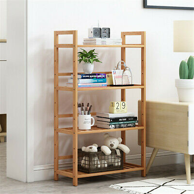 4 Tier Wooden Bamboo Bathroom Kitchen Shelf Storage Rack Unit Book Plant Stand • 29.95£