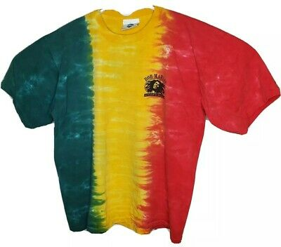 $ CDN54.12 • Buy Vintage Bob Marley One Love Tie Dye T-Shirt Universal Studios Single Stitch XL