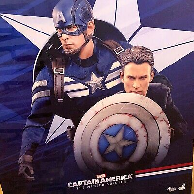 $595 • Buy Hot Toys MMS243 Captain America And Steve Rogers Deluxe Set  - New - Open Box