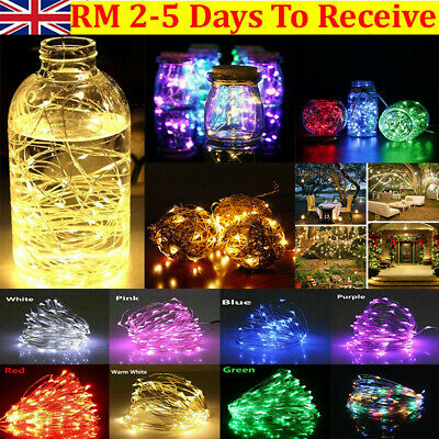 Battery Fairy Lights LED String Home Twinkle Decor For Party,Christmas Garden UK • 4.99£