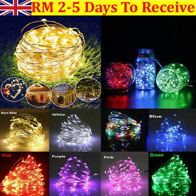 LED String Fairy Lights Battery Home Twinkle Decor For Party,Christmas Garden UK • 3.29£