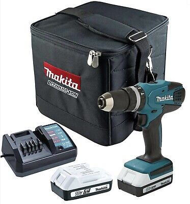 Makita HP457D 18v G-Series Cordless Combi Hammer Drill Driver Charger And Case • 114£