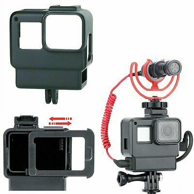 $ CDN11.23 • Buy Microphone Adapter Housing Case Cover Frame For GoPro Hero 7 6 5 Black Camera #E