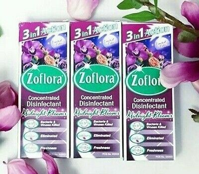 3x Zoflora Midnight Blooms Limited Edition 120ml Disinfectant. Free P&P • 13.95£