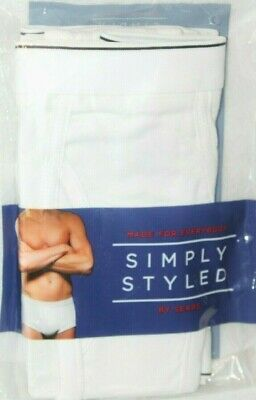 Simply Styled By Sears Men's Combed Ring Spun Cotton Brief 3-Pk Briefs 3XL/SM • 11.43£