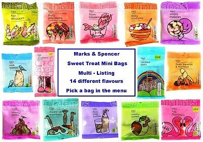 Marks Spencer Kids Mini Sweet Treat Bag ~ 14 Varieties Lunch Party Gift Snack MS • 2.35£