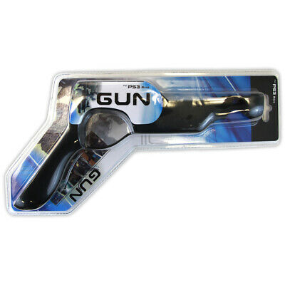 New PS3 Move - Gun Grip Controller Attachment BLACK PlayStation 3 Pistol • 5.32£