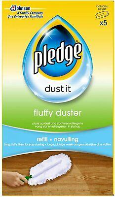 Pledge Fluffy Dusters 5 Pack Refills Dust It • 7.95£