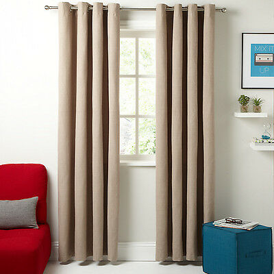 £69.99 • Buy New- House By John Lewis Lined Eyelet Curtains, Mocha,W167 D 236 Cm,rrp £120.