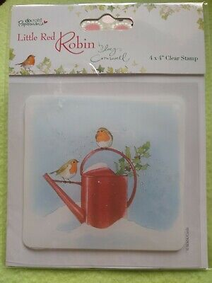 Do Crafts Papermania Little Red Robin Stamp By Lucy Cromwell 4x4  Clear Stamp • 4.50£