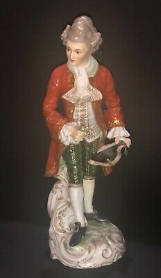 $ CDN1.31 • Buy Fine Antique German Dressel And Kister Rococo Young Man Dandy Porcelain Figure