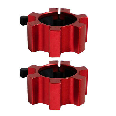 $ CDN31.65 • Buy Lot 2 2'' Barbell Collars 50mm Dumbbell Spin Lock Weight Bar Rod Clamps Clip Red