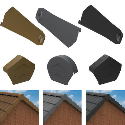 £4.89 • Buy Universal Dry Verge System For Gable / Apex Roof - Tile End Cap & Ridge End Caps