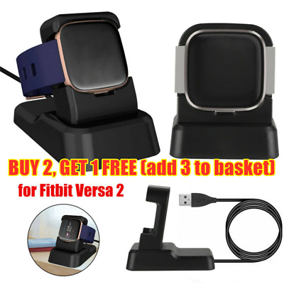 $ CDN10.85 • Buy Charger Holder Adapter Cradle USB Cable Dock For Fitbit Versa&Versa 2 Lite