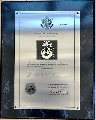 Kiss Ace Frehley Registered Makeup Trademark Metal Plaque  • 396.27£