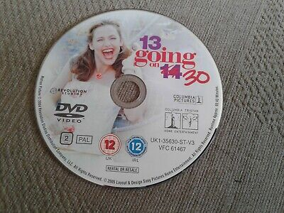 13 Going On 30 (DVD, Disc Only No Case Freepost Very Good Condition % • 1.13£